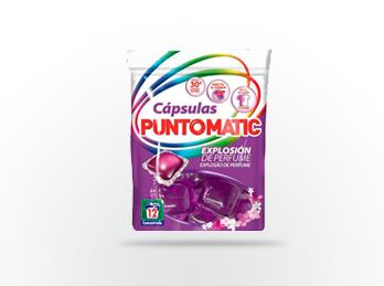Primeras cápsulas de detergente líquido bajo la marca Puntomatic